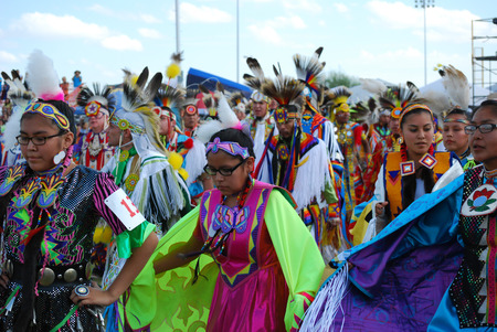 pow wow: Scottsdale, AZ, USA - November 1, 2014: 28th Annual Red Mountain Eagle Pow Wow celebrated at the Salt River Pima - Maricopa Indian Community. Nations from all over the US and Canada danced and sang. Editorial use. Taken 1112014 Editorial