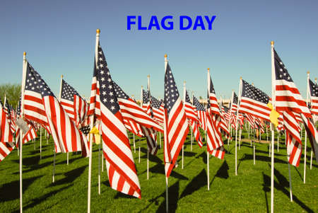 observance: The United States adopted the flag as its national flag on June 14, 1777. Stock Photo