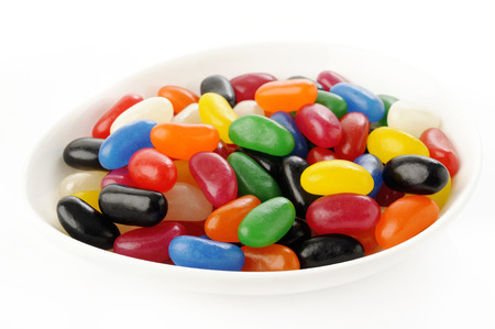 jelly beans: jelly beans on white