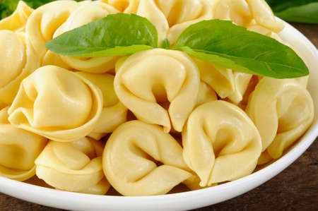 tortellini: close up of tortellini Stock Photo