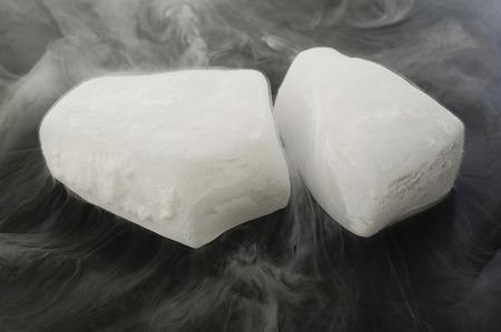 dry ice Standard-Bild