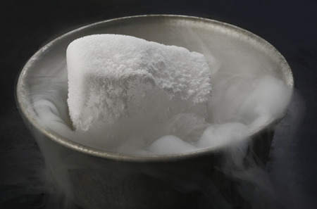 dry ice in bowl