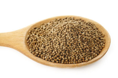 Perilla herb seed  in wooden spoon