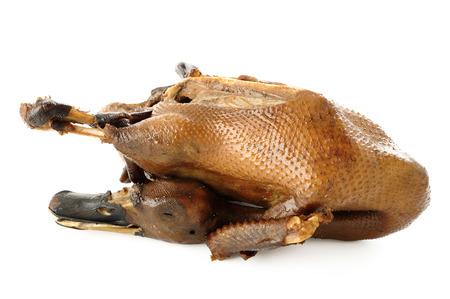 stewed: stewed duck on white background