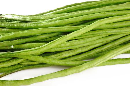 yardlong bean on white background photo