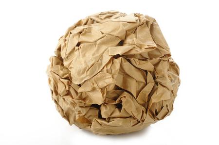 scrunch: crumpled paper