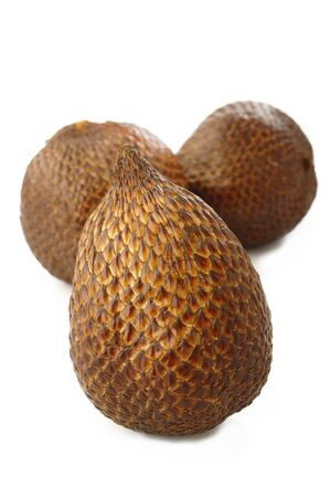 salak: salak bali fruit on white background
