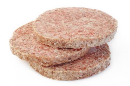 frozen burger on white background Stock Photo