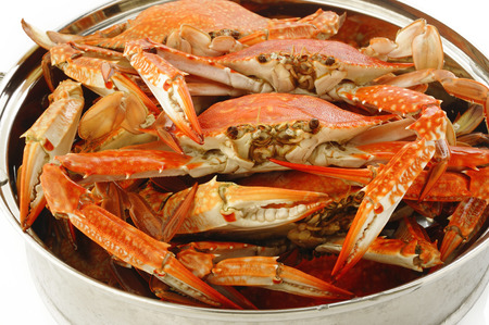 crab pot: steamed crab in steaming pot