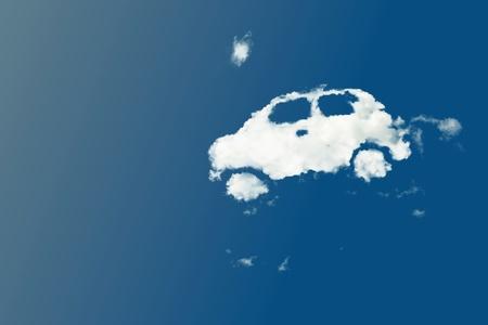 dream car: nube de forma del coche Foto de archivo
