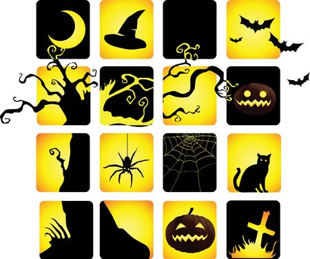 spider cartoon: halloween icon in twotone colour