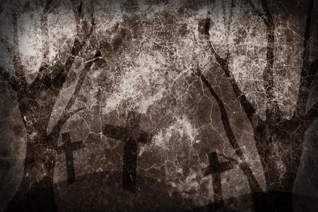 dark forest: Mold texture Halloween Background