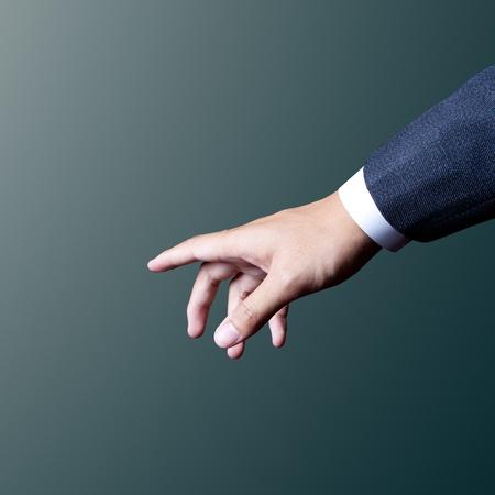 business hand choosing Foto de archivo