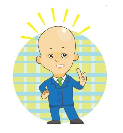 bewildered: Bald head man