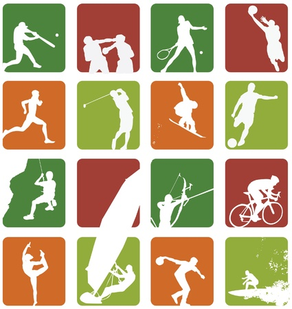 bowing: sport icon set