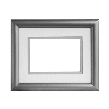 isolate of metalic frame photo