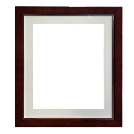 isolate of wood frame Stock Photo - 17241912