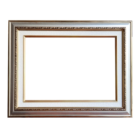 silver frame: isolate of metalic frame Stock Photo