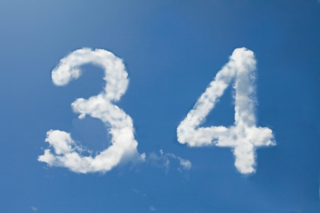 3 and 4  clouds number