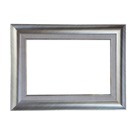 matted: isolate of metalic frame Stock Photo