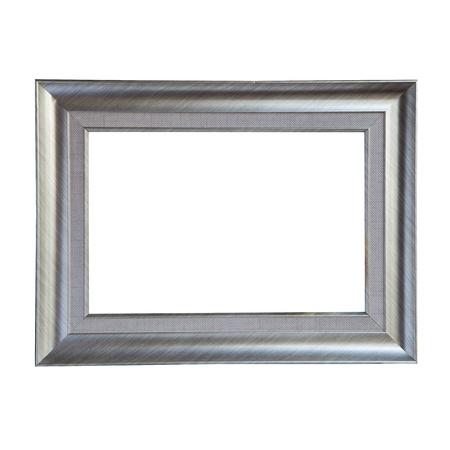 isolate of metalic frame Stock Photo