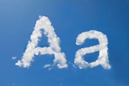 A font clouds photo