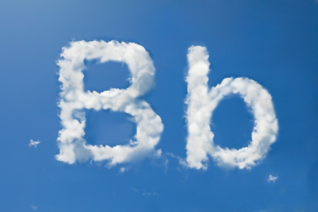 B font clouds photo