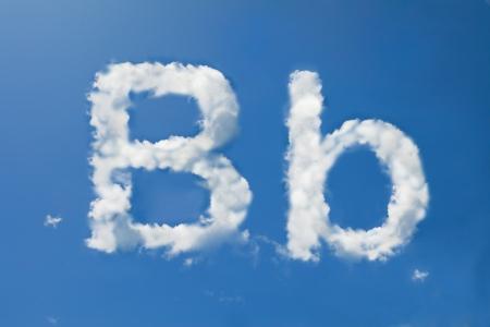 b days: B font clouds Stock Photo