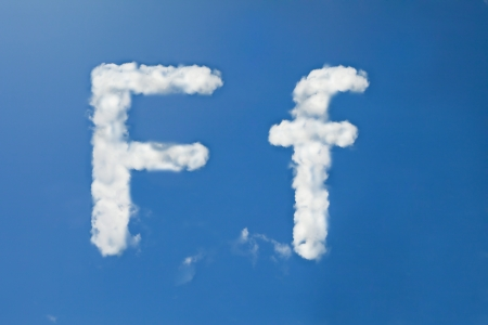 F font clouds photo
