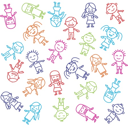 Vector of colorful children background Stock Photo