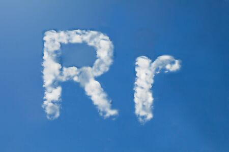 r font clouds photo