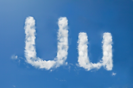 u font clouds photo