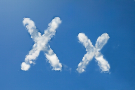 x font clouds photo