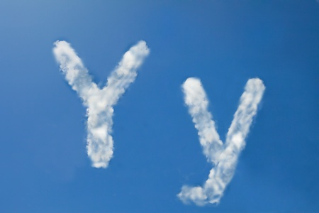 y font clouds photo
