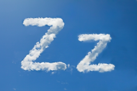 z font clouds photo