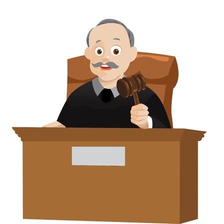 orden judicial: juez vector Vectores