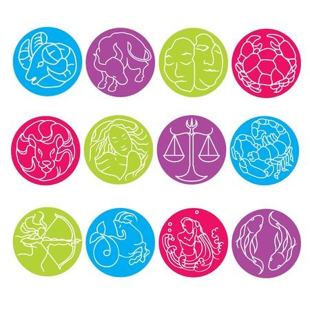 signes du zodiaque: ZODIAC Illustration