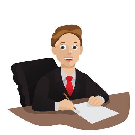 set of businessman: Manager