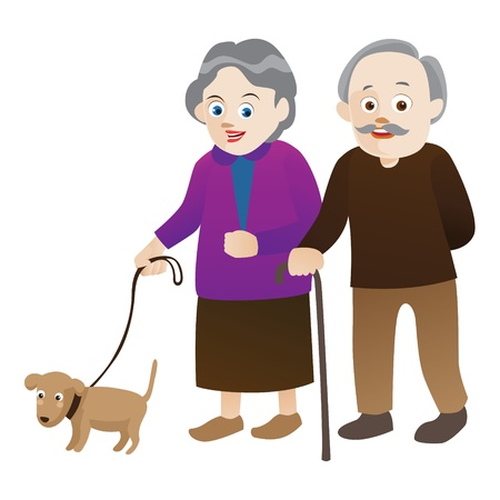 happy old age: old people  Stock Photo
