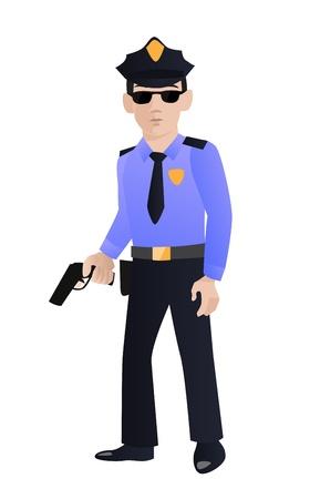 cartoon police officer: Police officer