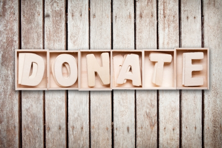 Donate wood word style