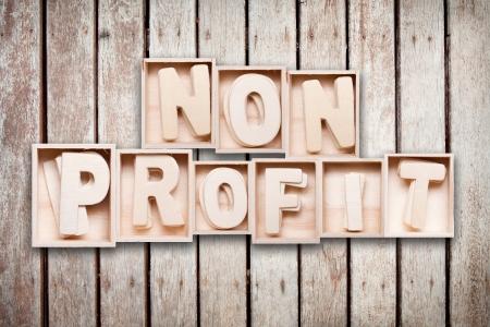 Non profit wood word style Banque d'images