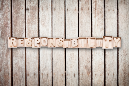 Responsibility wood word style photo
