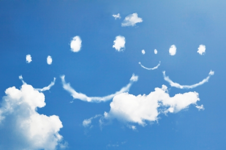 Cloud smile on sky