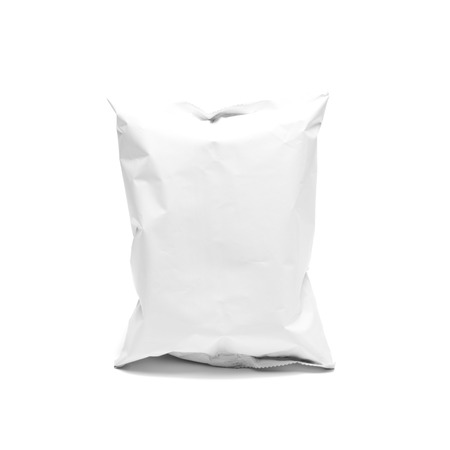 plastic packaging on white background Stock Photo