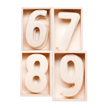 8 9: 6,7,8,9 wood alphabet in block