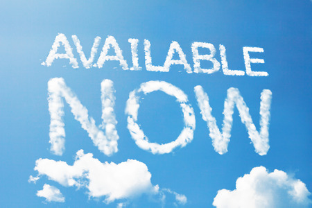 Available now a cloud massage on sky photo