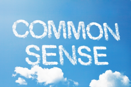 common sense: Common sense cloud word