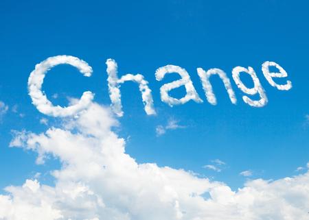 Change cloud word Standard-Bild