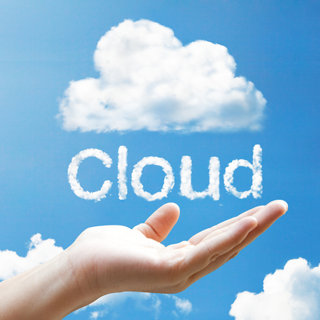 Cloud floating on hand